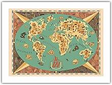 Carte du Monde - Tai (Transports Aériens