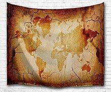 carte du monde tapisserie vintage, conception de