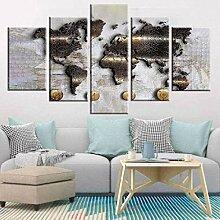Carte du monde toile babillard Image image décor