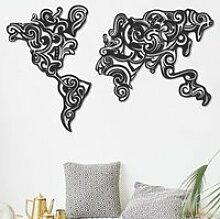 Carte du monde -Tribal (100 x 61 cm) Décoration
