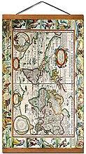 Carte du monde Vintage fournitures de bureau