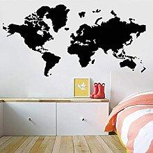 Carte Du Monde Wall Sticker Terre Voyage Vinyle