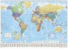 Carte du Monde - World Map  - 61x91,5cm - AFFICHE
