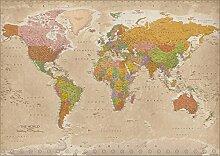 Carte du monde XXL Maps in minutes® - Poster