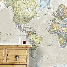 Carte Géante du Monde Pour Mur - Classique - 232