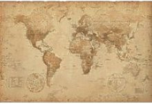 Cartes Historiques Poster - Carte Du Monde, Ye ...