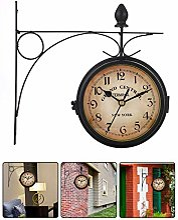 CARTEY Horloge De Gare Rétro, Horloge Murale