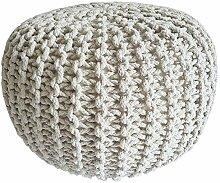 casamia Pouf en tricot - Diamètre : 45 cm -