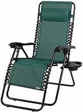 CASARIA Chaise de Jardin inclinable avec Dossier