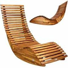 Casaria - Chaise longue à bascule en bois •