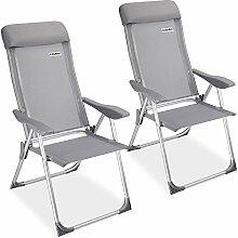 Casaria - Lot de 2 chaises de Jardin pliantes en