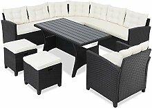 CASARIA Salon de Jardin Lounge en polyrotin 9