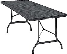 CASARIA Table de Jardin Pliable Pliante Plastique