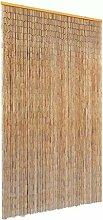 Casdl Moustiquaire de porte en bambou 120 x 220 cm