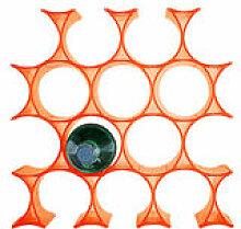 Casier à bouteilles Infinity - Kartell orange en