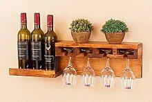 Casier à Bouteilles Porte-vins En Bois Massif