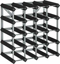 Casier à bouteilles pour 20 bouteilles Noir Bois