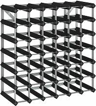 Casier à bouteilles pour 42 bouteilles Noir Bois