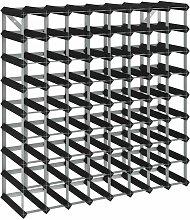 Casier à bouteilles pour 72 bouteilles Noir Bois