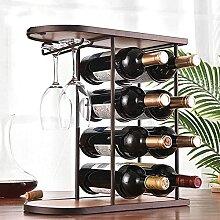 Casier à vin 8 Bouteilles, Porte-Verre à vin en