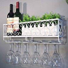 Casier à vin en métal avec porte-bouteilles,