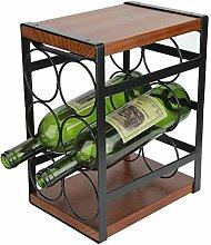 Casier à vin rustique à 3 niveaux,