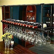 Casier à vin suspendu à 2 couches, supports à