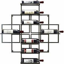 Casier à vin suspendu mural avec porte-bouteilles