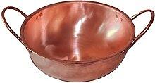 Casserole à soupe en cuivre pur à double