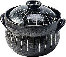 Casserole en céramique avec 2 couvercles, marmite
