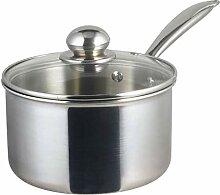 casserole Lait Pan et beurre chaud, sauce en acier