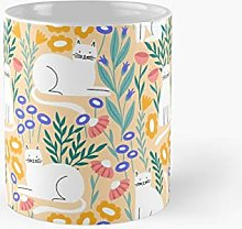Cat In The Garden Classic Mug For Kids, Fathers