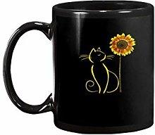 Cat Lovers Sunflower Wild Garden Floral Daisymug