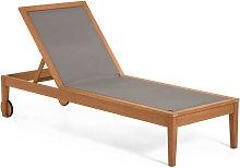 Caterin - Chaise longue en bois massif