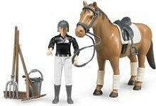Cavaliere avec cheval et accessoires