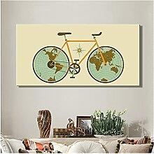 CBYLDDD Carte du monde sur les roues de