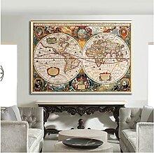 CBYLDDD Carte du monde Vintage antique historique