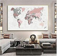 CBYLDDD Poster de la carte du monde Imprimer