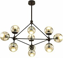 Cclight E27 Noir Spoutnik Lustre Suspension, 10