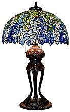 CCSUN Grande Style tiffany Lampe de table, Bleu