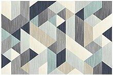 CCTYJ Modèle géométrique Blanc Bleu Gris Bleu
