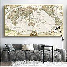 CCZWVH Tableaux muraux modulaires Carte du Monde