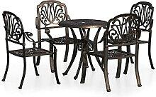 CDPC Ensemble Biatro 5 pièces Table et chaises de
