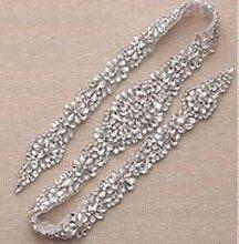 Ceinture de mariage en diamant argenté 31 pouces