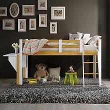 CELESTIN - Lit enfant mezzanine mi-haut en bois
