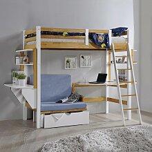 CELESTIN - Lit mezzanine enfant 90 x 190 cm avec
