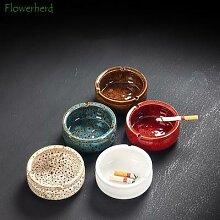 Cendrier en céramique en porcelaine, service à
