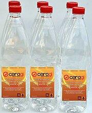 CERAGI Lot de 6 bouteilles d'huile de paraffine