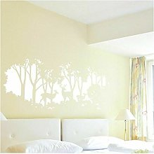 Cerf Forêt Arbre Stickers Muraux Salon Carte Du