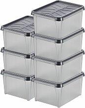 Certeo - Lot de 7x Boîte de rangement Dry | 12 l
